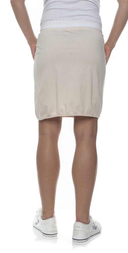 Sportovní béžová letní sukně s délkou ke kolenům