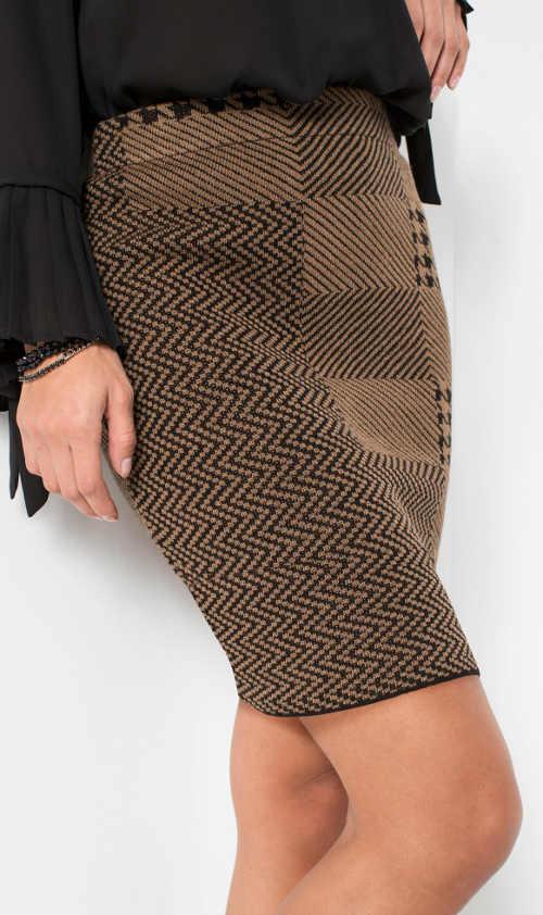 Krátká hnědá dámská sukně