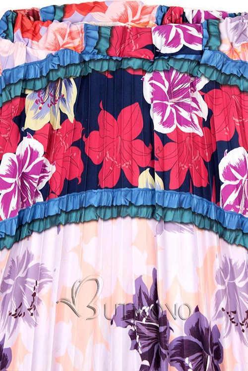 Květovaná maxi sukně výprodej