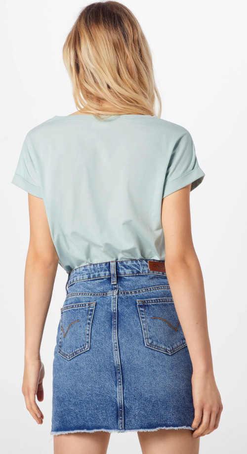Krátká džínová pouzdrová sukně rovného střihu