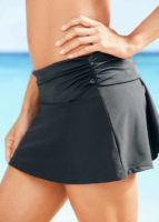 Černá koupací sukně s ohrnovacim pasem