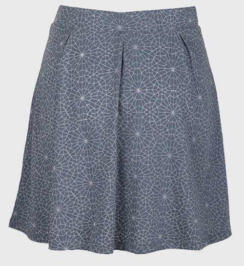 Kratší šedá dámská letní sukně