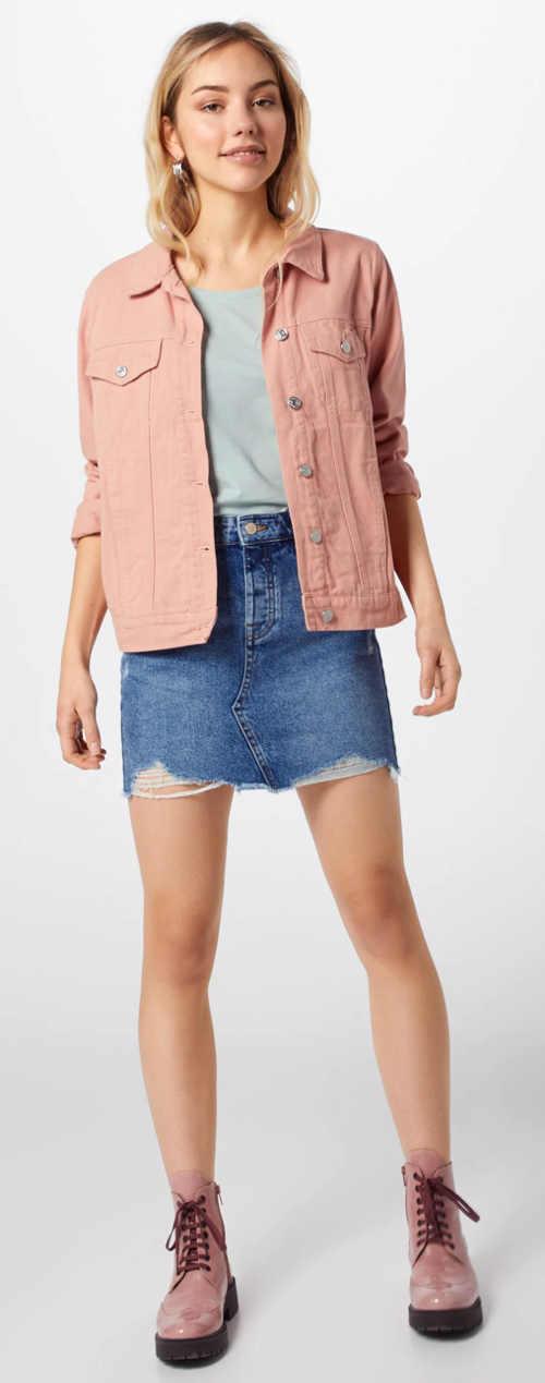 Moderní denimová mini sukně pro mladé