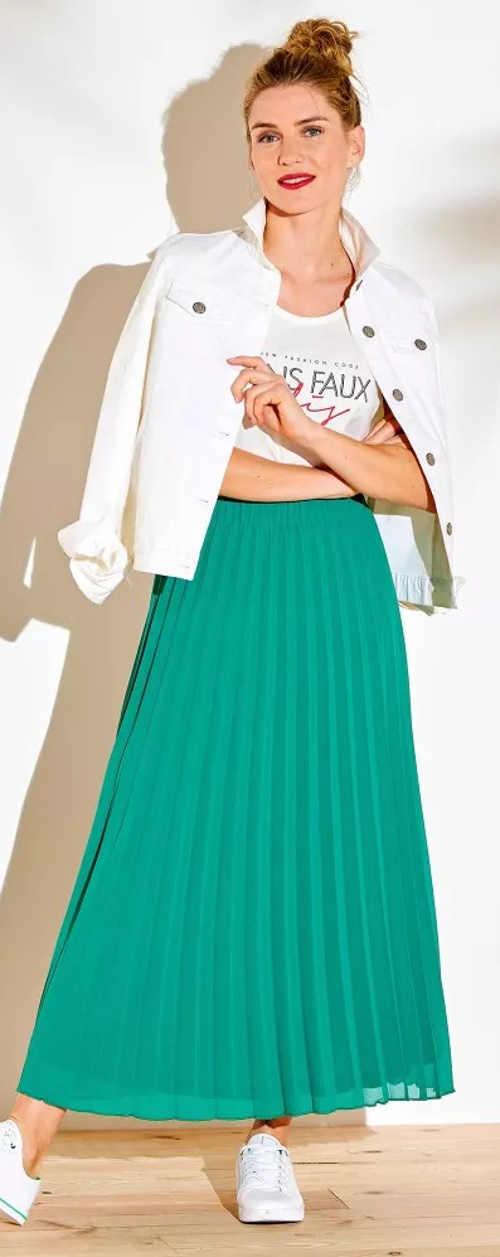 Pohodlná plisovaná sukně s pružným pasem do gumy