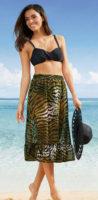 Vzdušná plážová sukně se zvířecím vzorem