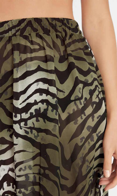 Vzorovaná plážová sukně s pohodlnou širokou gumou v pase