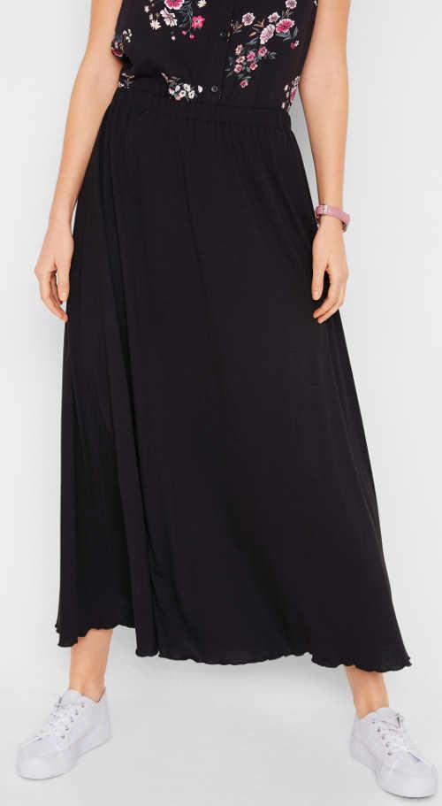 Černá dámská maxi sukně na léto