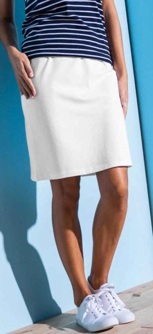 Levná jednobarevná rovná dámská sukně