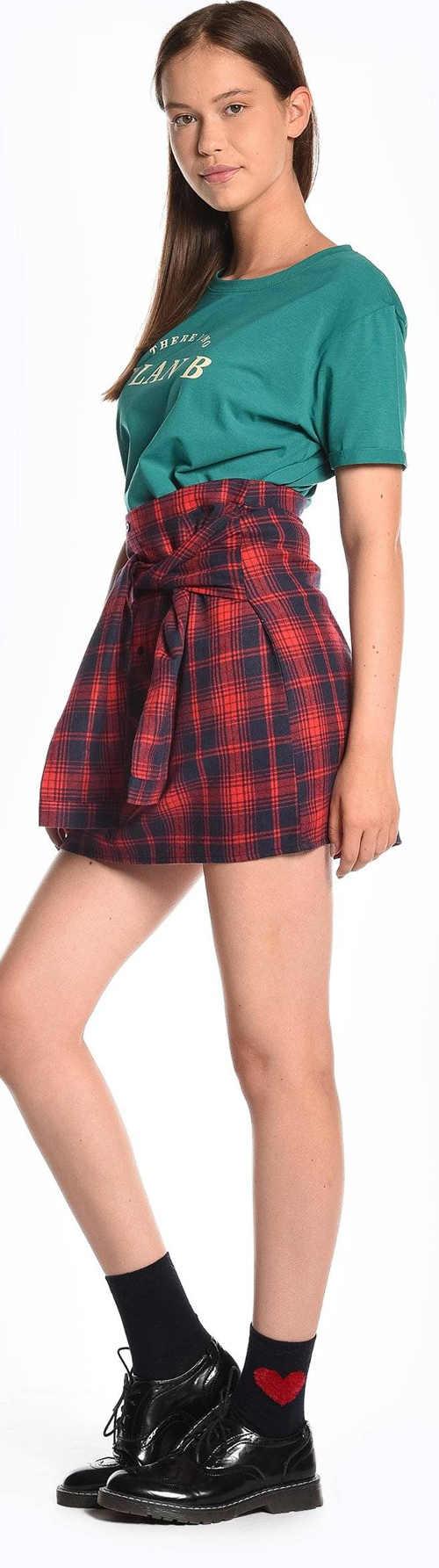 Moderní dámská sukně s falešnými rukávy kolem pasu