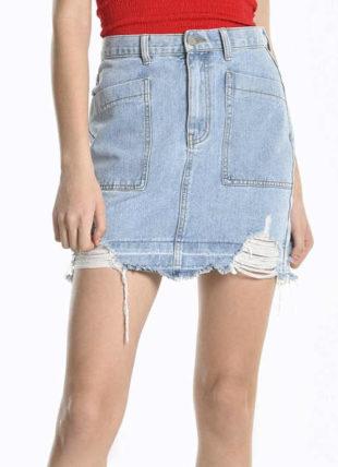 Moderní džínová dámská sukně pro mladé