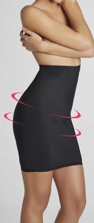 Stahovací dámská spodnička s vysokým pasem