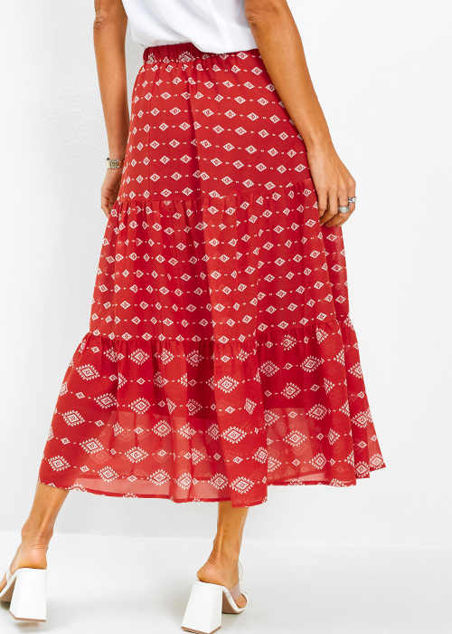 Dámská šifónová dlouhá sukně