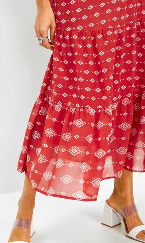 Dámská sukně s potiskem v maxi délce