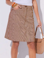 Dámská sukně v klasickém provedení s jemnými proužky