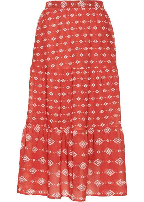 Dámská sukně v maxi délce s potiskem