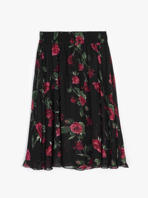 Dámská sukně v moderním designu a pružným pasem