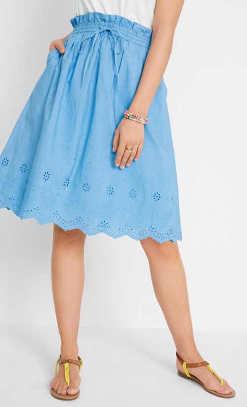 Krásná a pohodlná bavlněná sukně