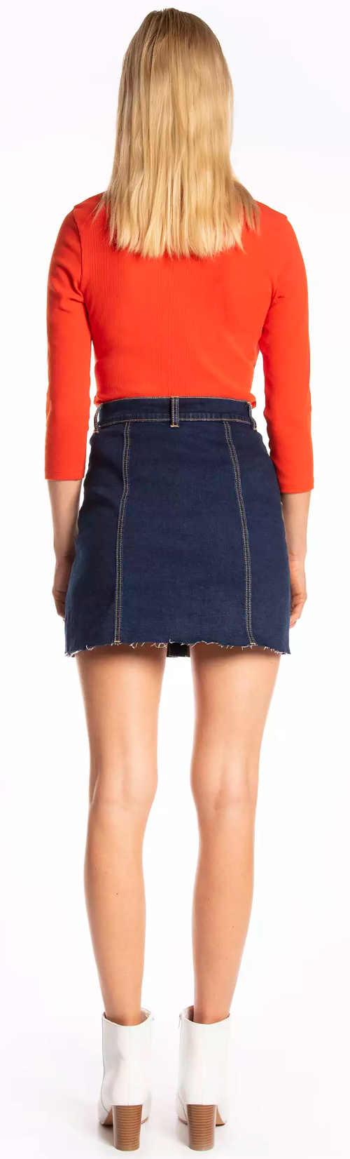 Krátká denimová sukně tmavě modré barvy