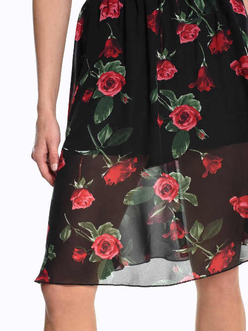 Moderní a nadčasová dámská sukně s květinovým vzorem