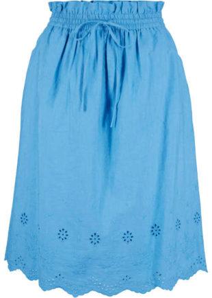 Pohodlná dámská bavlněná sukně s dírkovaným vzorem