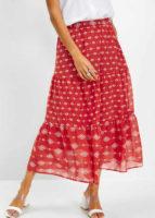 Šifónová dámská dlouhá sukně s moderním potiskem