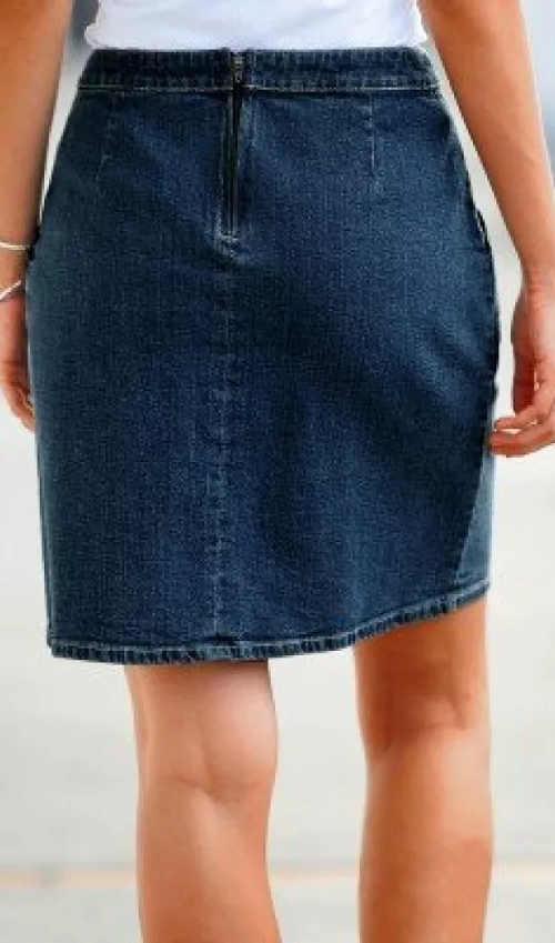 XXL džínová sukně opraný vzhled