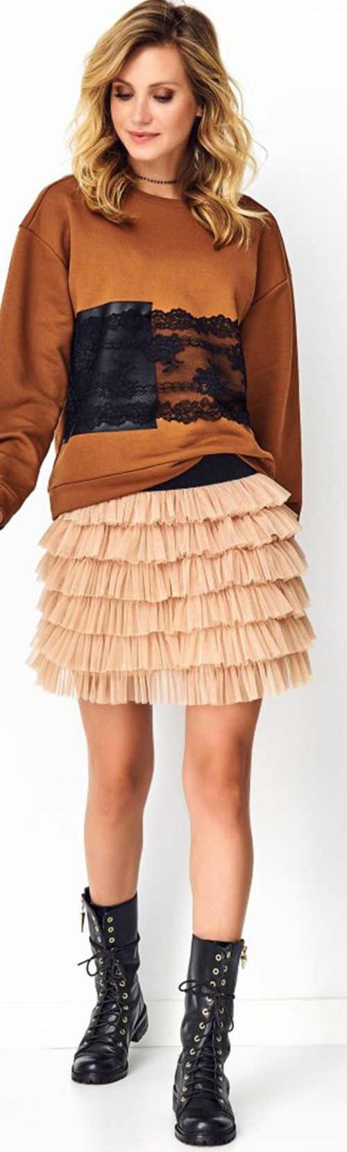 Béžová dámská tylová TUTU sukně