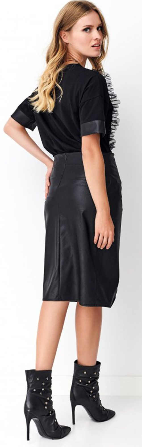 Černá dámská sukně umělá ekokůže