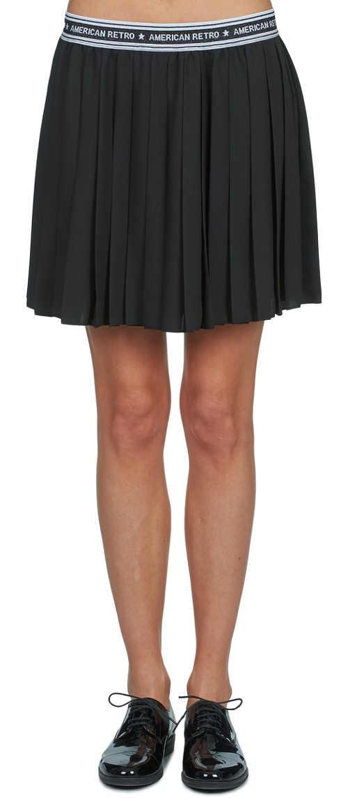 Černá sukně styl americká školačka