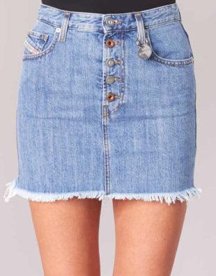 Džínová dámská modrá mini sukně Diesel