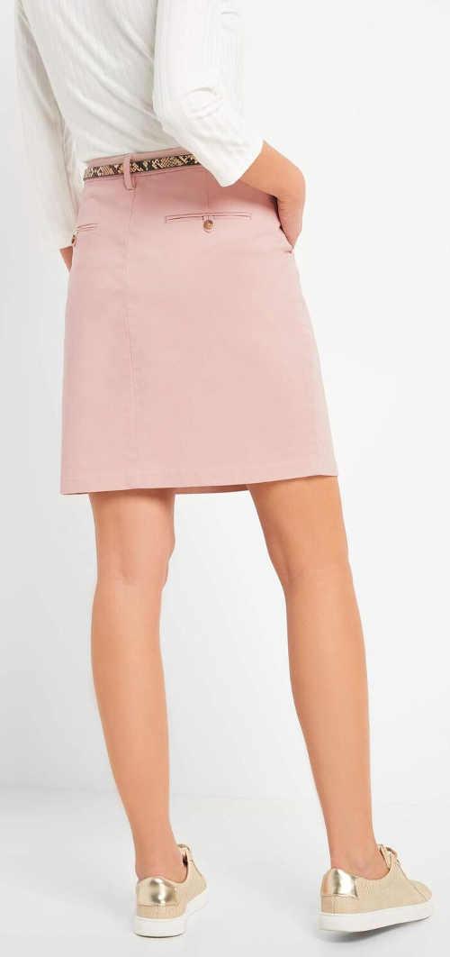 Kratší růžová dámská sukně výprodej