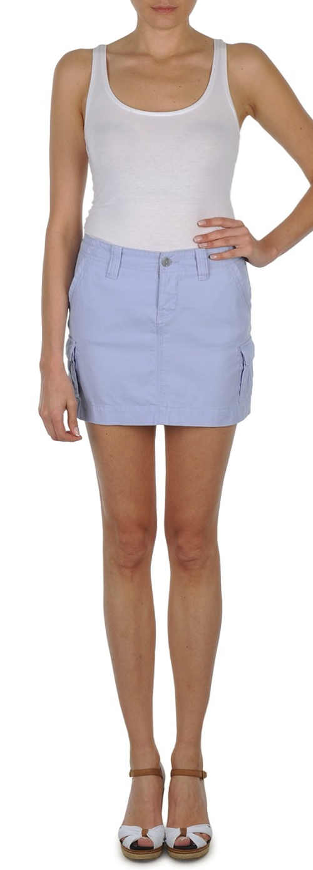 Modrá minisukně Oxbow s bočními kapsami