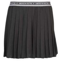 Skládaná černá sportovní sukně American Retro
