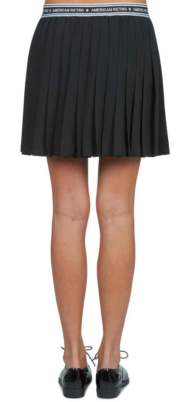 Sportovní skládaná sukně s potištěnou gumou v pase