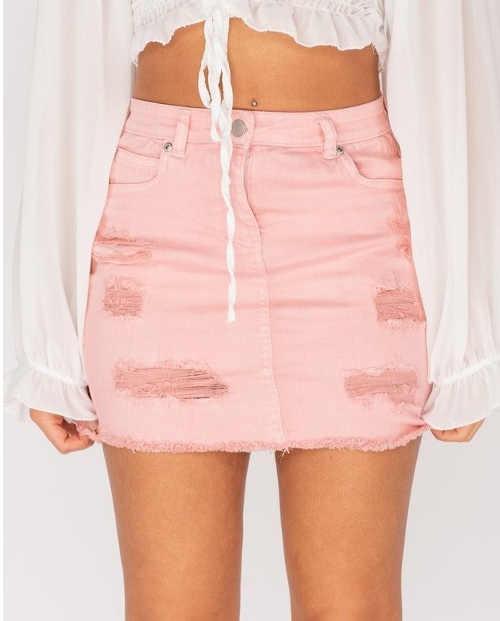 Dámská džínová mini sukně v moderním designu