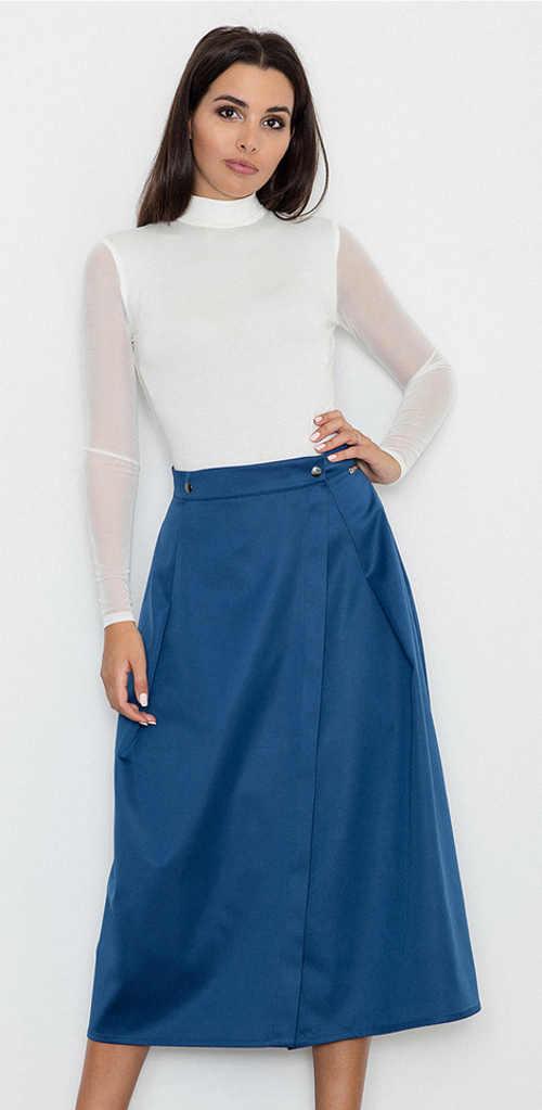 Dámská sukně v midi délce s celoročním využitím v elegantním vzhledu