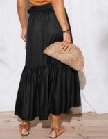 Dlouhá pouzdrová sukně z příjemného a vzdušného materiálu