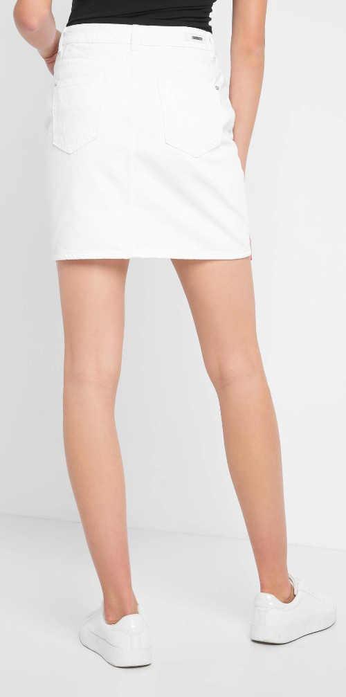 Krátká bílá denimová dámská sukně