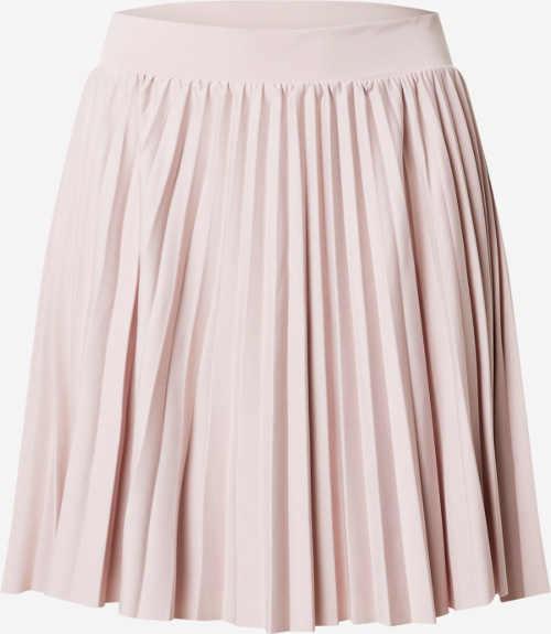 Růžová krátká plisovaná sukně