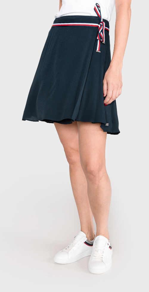Stylová zavinovací sukně nad kolena Tommy Hilfiger