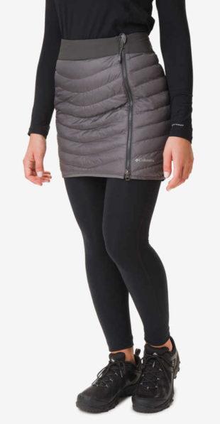 Zimní dámská prošívaná sukně v šedé barvě