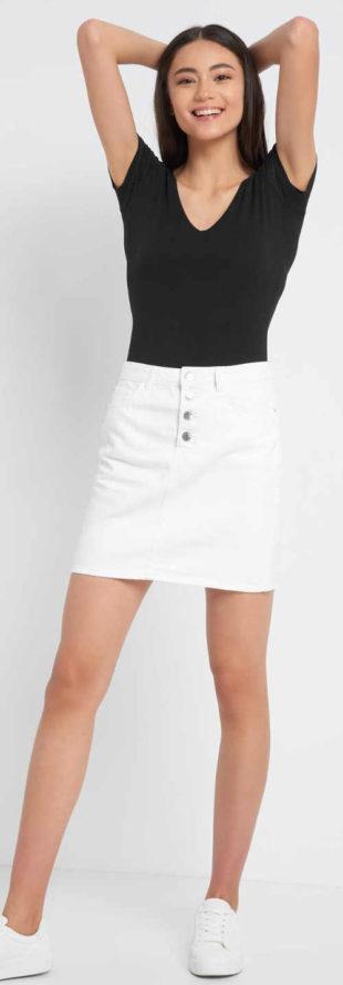 Bílá dámská riflová minisukně Orsay