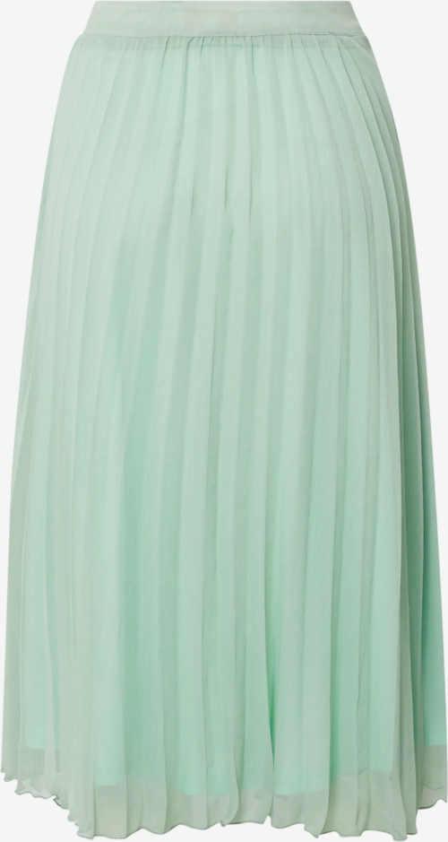 Další plisovaná dámská sukně v decentní mátové barvě