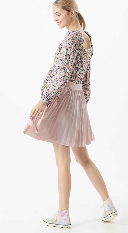 dámská mini plisovaná sukně