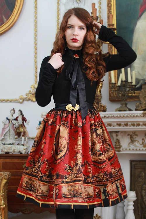dámská sukně v působivém vzoru v midi délce