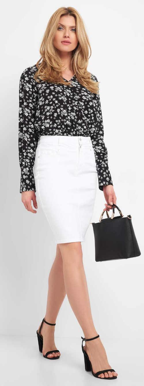 Elegantní bílá dámská sukně levně