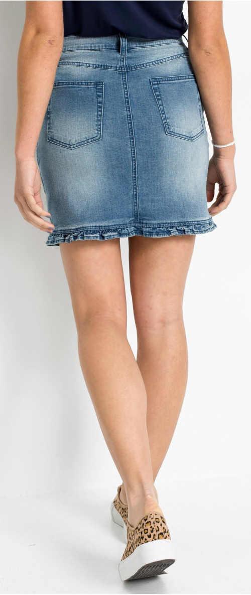 Moderní letní džínová minisukně