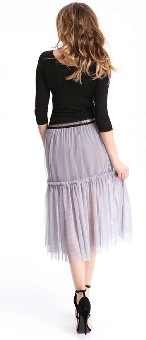 moderní sukně s kanýrkem v šedém provedení