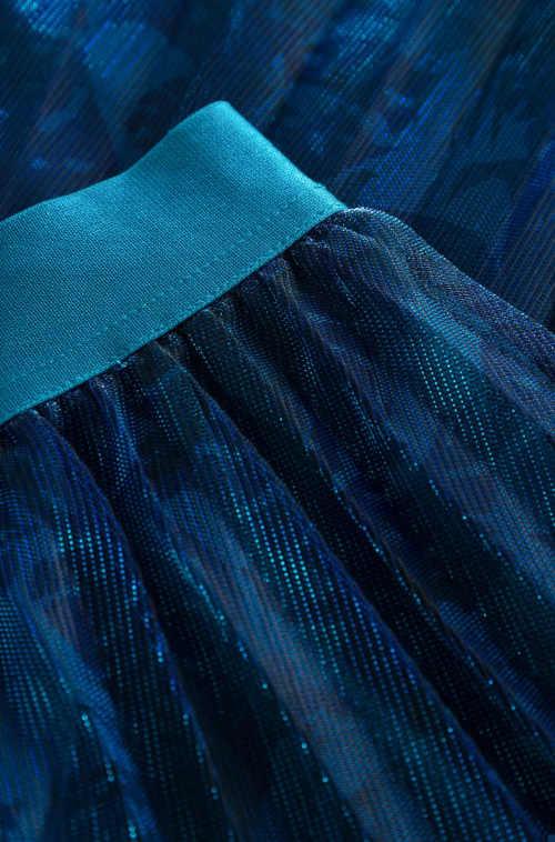 plisovaná sukně do vyššího pružného pasu