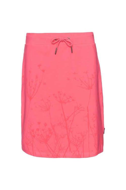 pohodlná letní sukně s květinovým potiskem